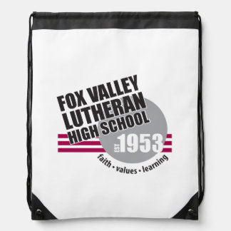 Est in 1953 - Fox Valley Lutheran High School Drawstring Backpack