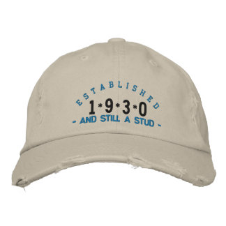 Established 1930 Stud Embroidery Hat Embroidered Cap