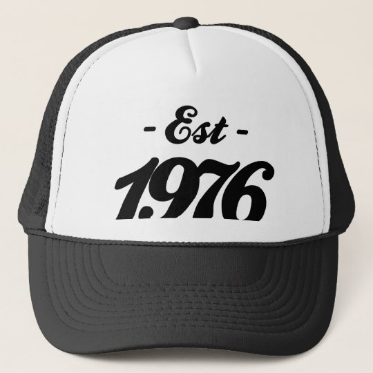 established 1976 - birthday cap