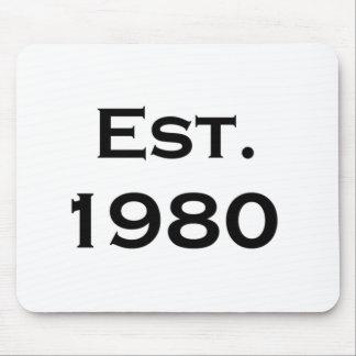 established 1980 mousepads