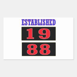 Established 1988 rectangular sticker