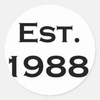 established 1988 stickers