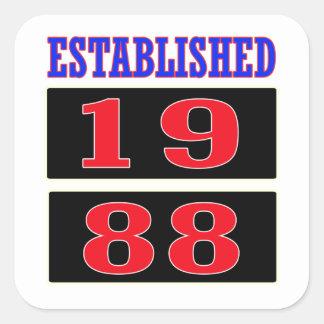 Established 1988 square sticker