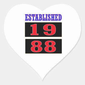 Established 1988 heart sticker
