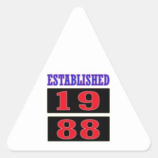 Established 1988 triangle sticker