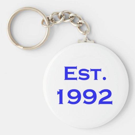 established 1992 keychains
