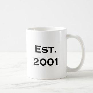 established 2001 coffee mug