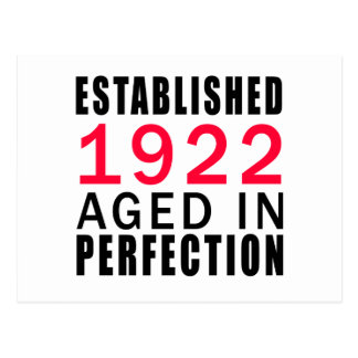 Established In 1922 Aged In Perfection Postcard