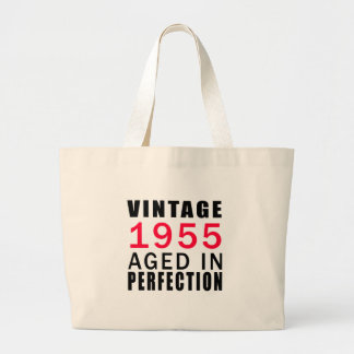 Established In 1955 Aged In Perfection Large Tote Bag