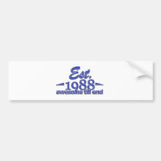 Established in 1988 birthday designs bumper sticker
