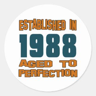 Established In 1988 Round Sticker
