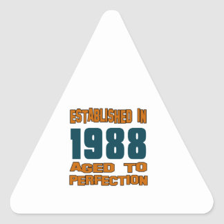 Established In 1988 Triangle Sticker