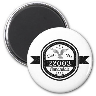 Established In 22003 Annandale 6 Cm Round Magnet