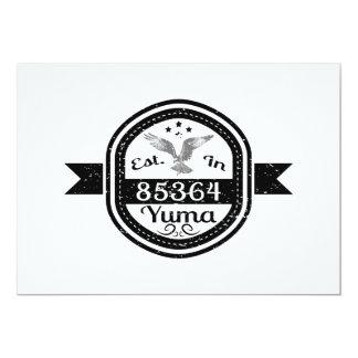 Established In 85364 Yuma Card