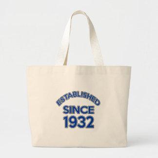 Established Since 1932 Jumbo Tote Bag