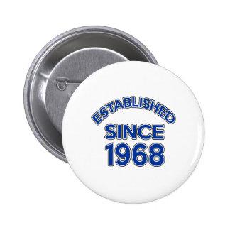 Established Since 1968 6 Cm Round Badge