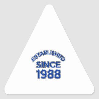 Established Since 1988 Triangle Sticker
