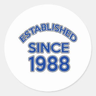 Established Since 1988 Round Sticker