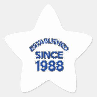 Established Since 1988 Star Sticker