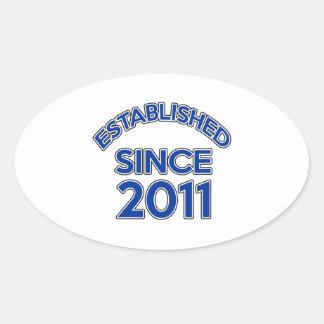 Established Since 2011 Oval Sticker