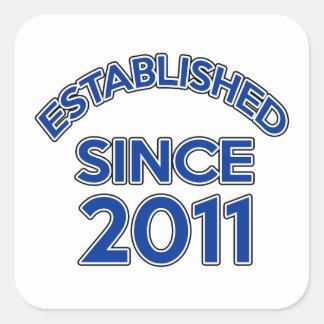 Established Since 2011 Square Sticker