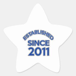 Established Since 2011 Star Sticker