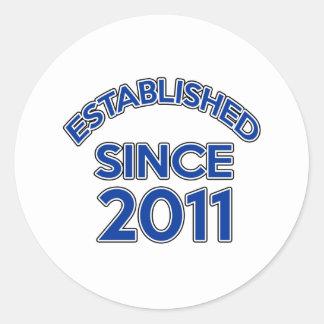 Established Since 2011 Round Sticker