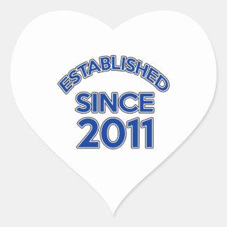 Established Since 2011 Heart Sticker