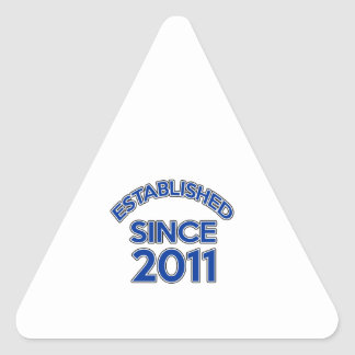 Established Since 2011 Triangle Sticker