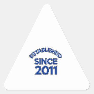 Established Since 2011 Triangle Sticker