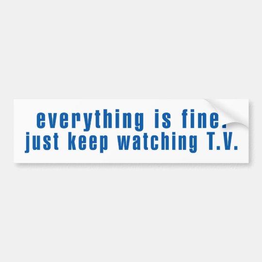 Establishment Message Bumper Sticker