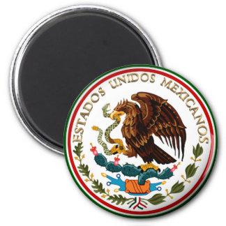 Estados Unidos Mexicanos (Eagle from Mexican Flag) 6 Cm Round Magnet