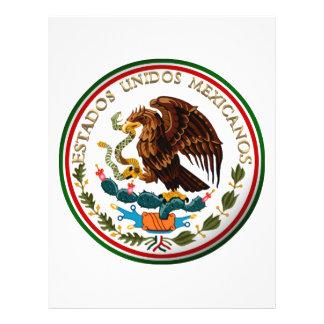 Estados Unidos Mexicanos (Eagle from Mexican Flag) 21.5 Cm X 28 Cm Flyer