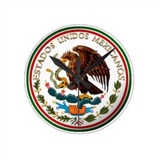 Estados Unidos Mexicanos (Eagle from Mexican Flag) Wallclocks
