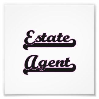 Estate Agent Classic Job Design Photographic Print