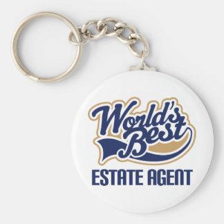 Estate Agent Gift Basic Round Button Key Ring