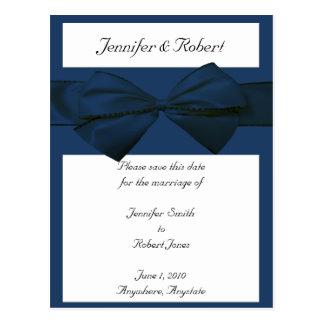 Estate Collection Marine Blue Wedding Postcard