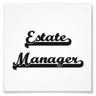 Estate Manager Classic Job Design Photo Art