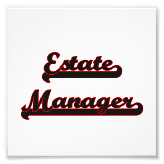 Estate Manager Classic Job Design Art Photo