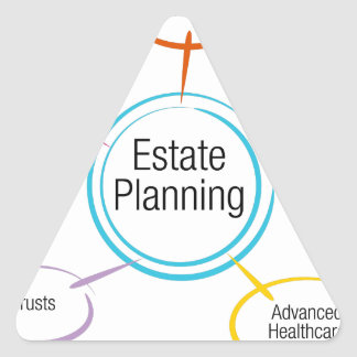 Estate Planning Chart Triangle Sticker