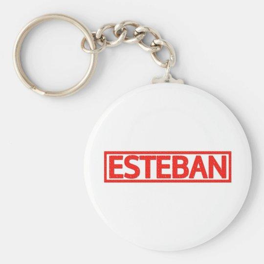 Esteban Stamp Basic Round Button Key Ring