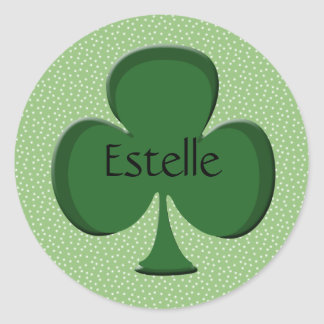 Estelle Shamrock Name Sticker / Seal