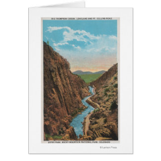 Estes Park, CO - View of Big Thompson Canon Card