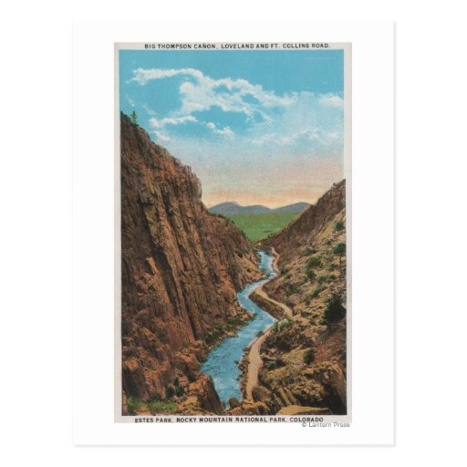 Estes Park, CO - View of Big Thompson Canon Post Cards