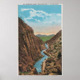 Estes Park, CO - View of Big Thompson Canon Print