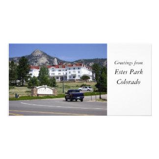 Estes Park Colorado card Personalized Photo Card