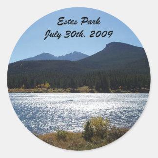 Estes Park, Colorado - Customized Classic Round Sticker