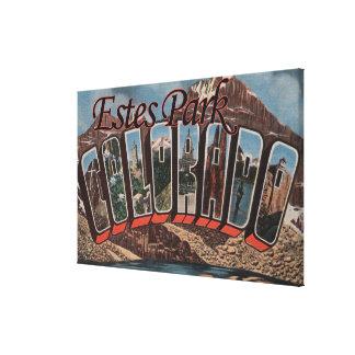 Estes Park, Colorado - Large Letter Scenes Canvas Print