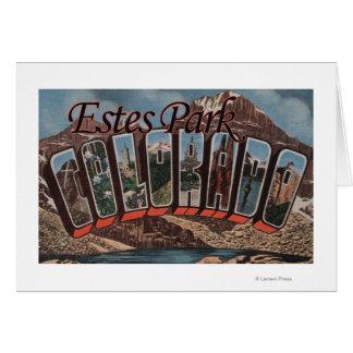 Estes Park, Colorado - Large Letter Scenes Greeting Card