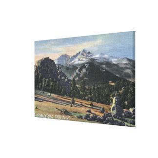 Estes Park, Colorado - Longs Peak View Stretched Canvas Print